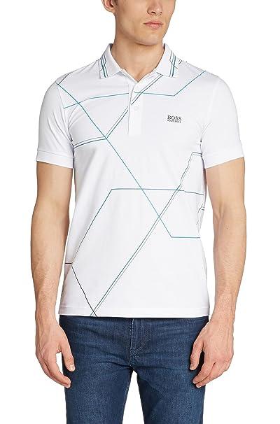 9b65155bd Amazon.com: Hugo Boss Mens Short Sleeve Slim-fit cotton-blend polo shirt 'Paule  2': Clothing
