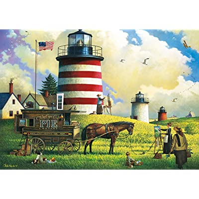 Buffalo Games - Charles Wysocki - The Three Sisters - 300 Piece Jigsaw Puzzle: Toys & Games