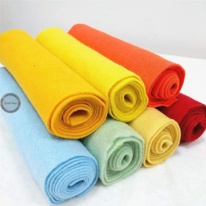 8 Colors Mixed ZAIONE/Lot 8 Rolls 8x35 Pre Roll Bundle Pack Soft Craft Felt Fabric Non-woven Blend Sheet Patchwork/School/DIY/Sewing/Craft/Material/Bag/Patchwork/Craft