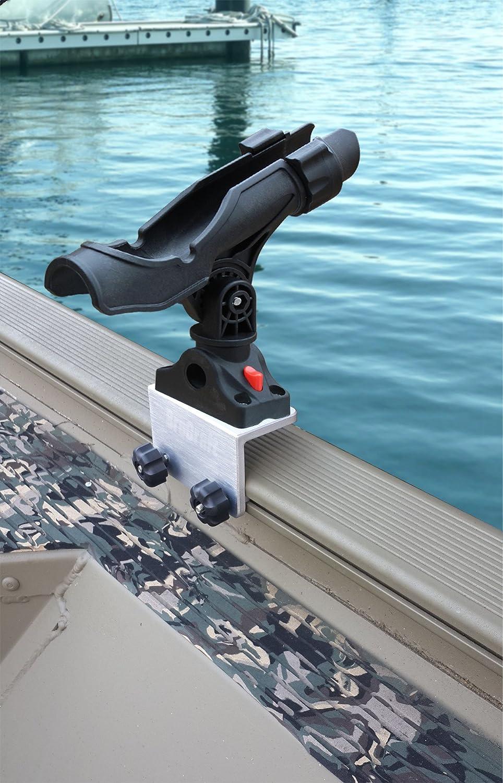Brocraft Power Lock Rod Holder for Tracker Boat Versatrack System/Lund Boat Sport Track Rod Holder- 90 Degree   B01FA9Q40A