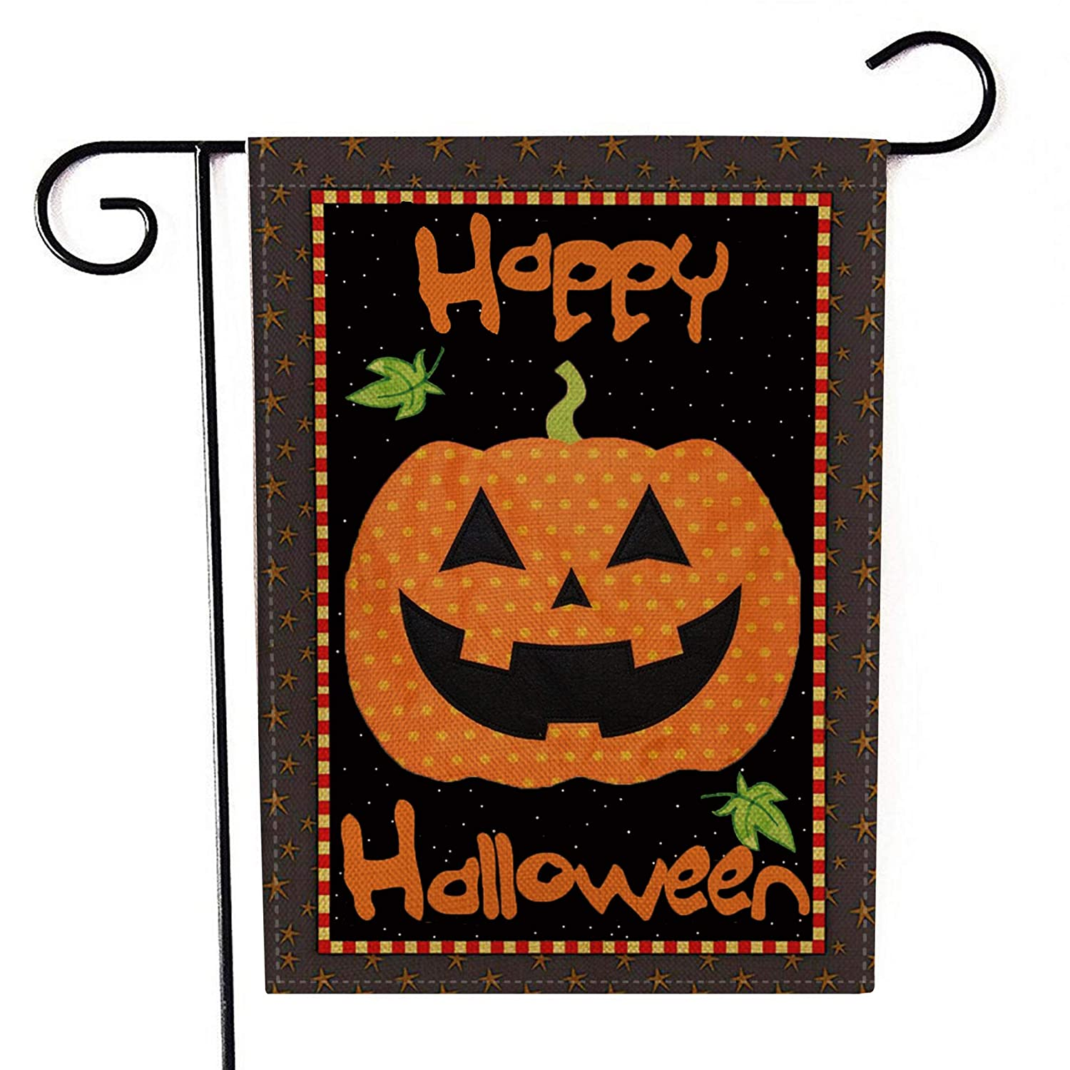 MeritChoice Halloween Garden Flag Pumpkin Home Decorative Double Sided Halloween Outdoor Flag 12 x 18 Inch