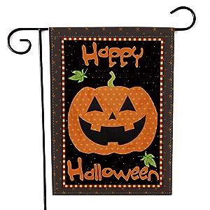 MeritChoice Halloween Garden Flag Pumpkin Home Decorative Double Sided Halloween Outdoor Flag 12 x 18 Inch