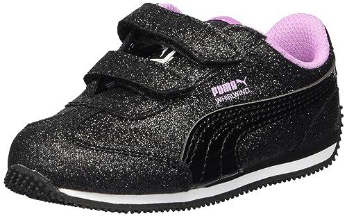 822631e5424c PUMA Baby Whirlwind Glitz Sneaker Black-Orchid