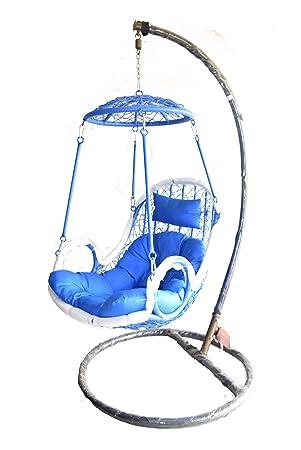 M.K. FURNITURE Home Swing Chair Blue colour