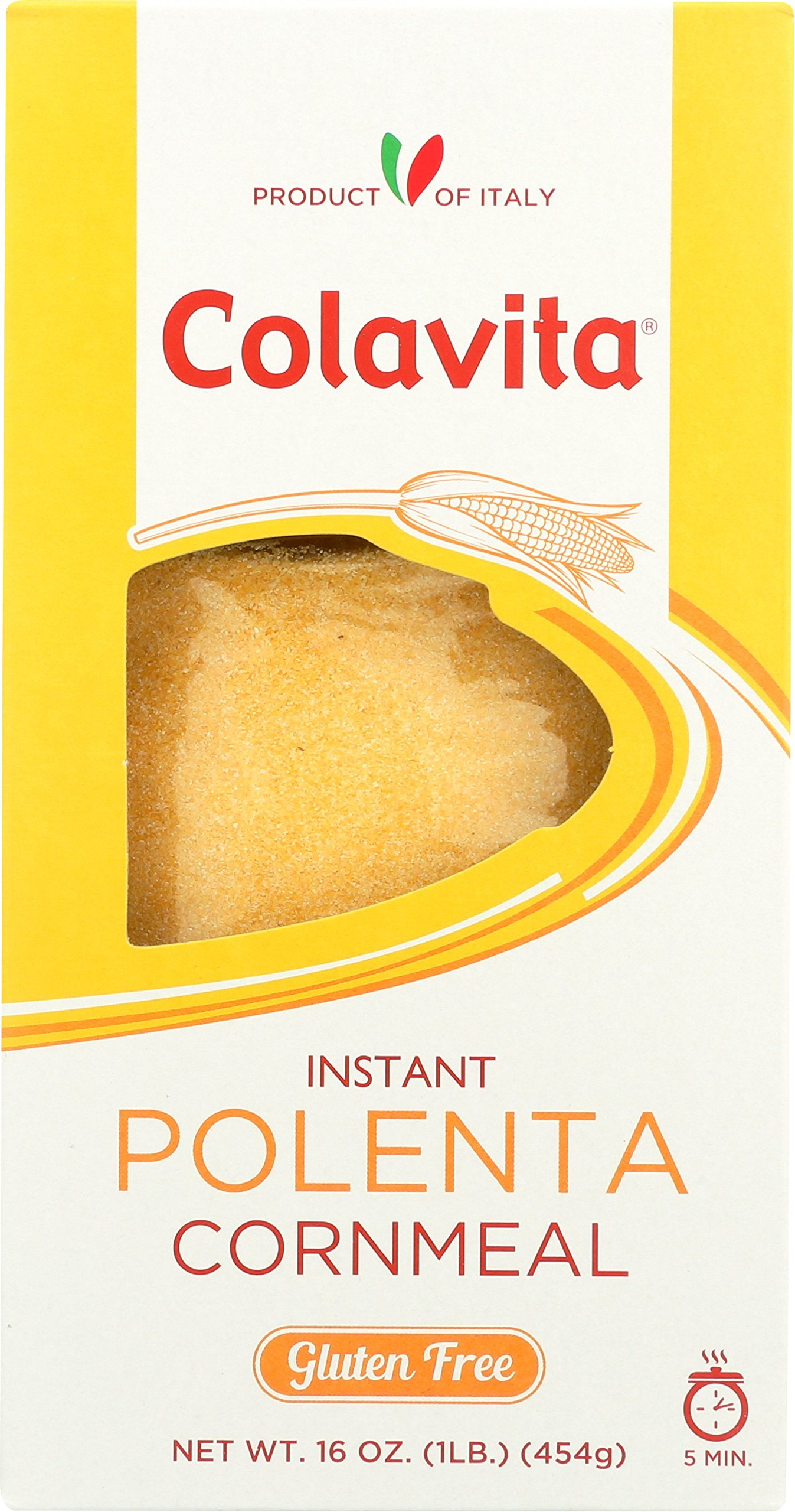 Colavita Instant Polenta Cornmeal, 16 Ounce (Pack of 6) by Colavita