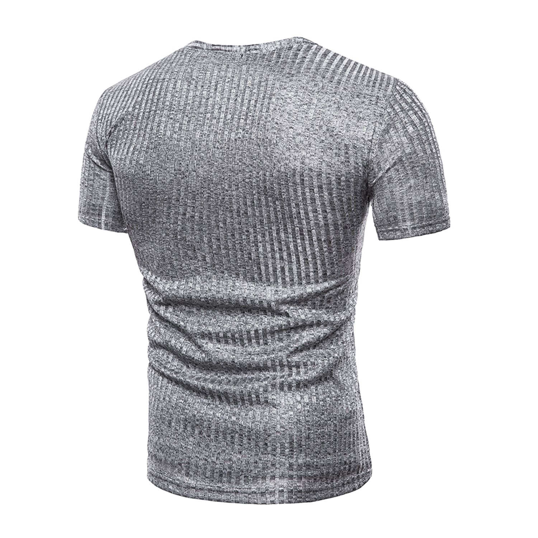 0dd482b1d23e Eagerness T-Shirts Homme Manche Court Col V Chemise Manches Courtes Fitness  Exercice Running Sport et Loisirs Casaul Gris EU58 Tag 2XL  Amazon.fr   Vêtements ...