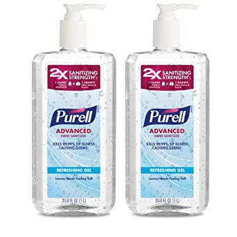 Purell Advanced Hand Sanitizer Hand Sanitizer Gel 1l Pump