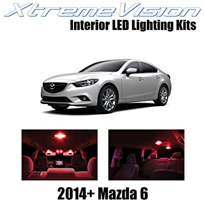 Xtremevision Interior LED for Mazda 6 2014+ (12 Pieces) Red Interior LED Kit + Installation Tool: Automotive