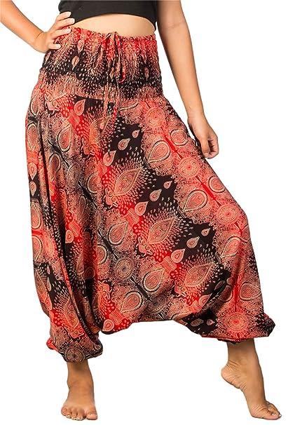 5491b795407c Lofbaz Donna Tie Dye Harem Fiore Smocked Waist Ovale Jumpsuit Pantaloni:  Amazon.it: Abbigliamento