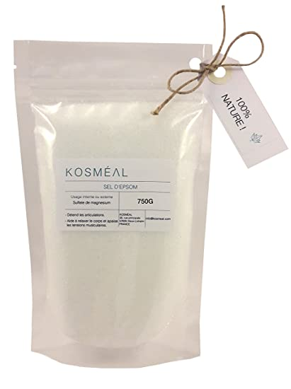 Sal de Epsom, sulfato de magnesio – 750 g