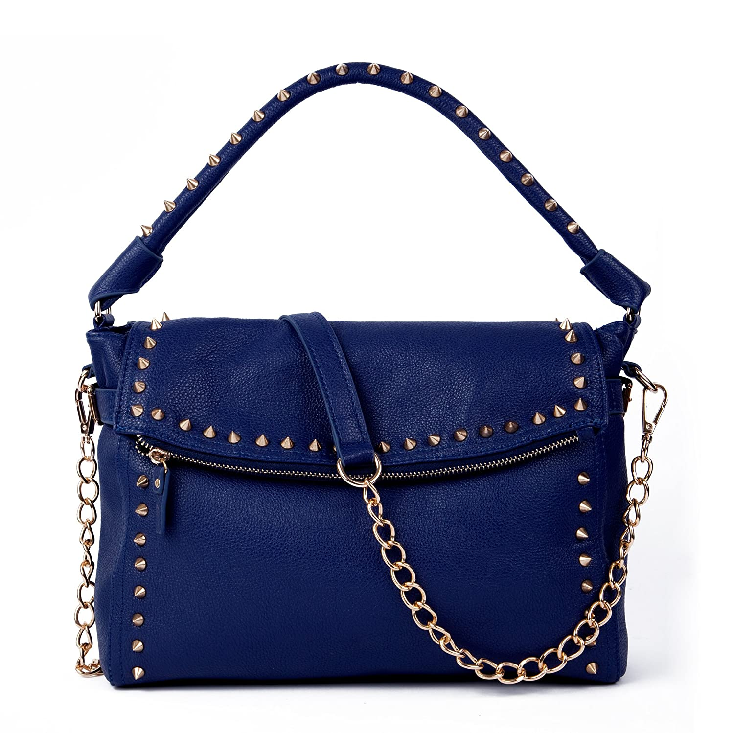 ddbe4619e5c2 Stacey Studded Shoulder Bag - Midnight Blue - Over the Shoulder Bags - Blue  Handbags - Trendy Bags  Handbags  Amazon.com
