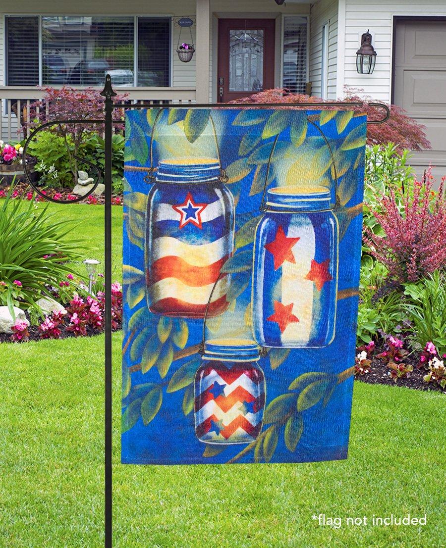 Briarwood Lane 3 Piece Wrought Iron Wrap-Around House Flag Stand Black 62'' L by Briarwood Lane (Image #2)