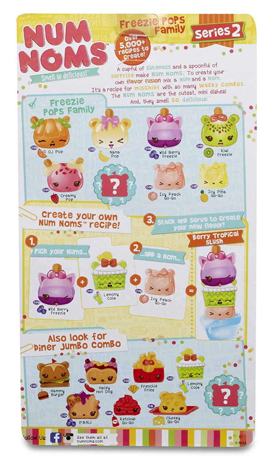 Scented 8-Pack Freezie Pops Family Num Noms Series 2