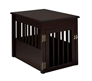 BarkWood Pet Crate End Table - Cappuccino Finish