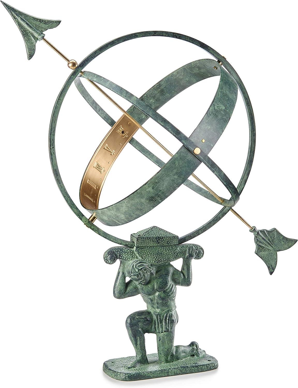 "Good Directions SD100V1 28"" Verdigris Atlas Armillary Sundial, Vertigris"