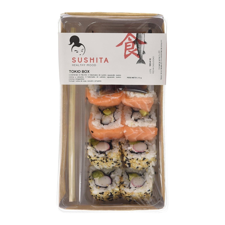Sushita Tokyo Box - Plato de pescado y marisco, 215 g: Amazon.es ...