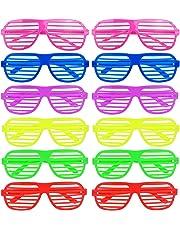 1d151ea1c8 ILOVECOS Moda 80 de Punta Plana de Juguete Gafas de sol Disfraz Gafas de  Persiana para