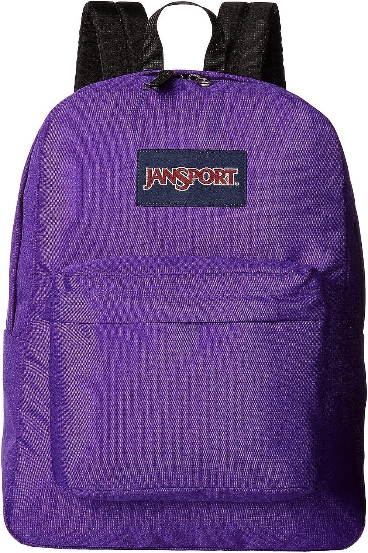 Jansport Backpack Superbreak Forge Grey Insignia Purple