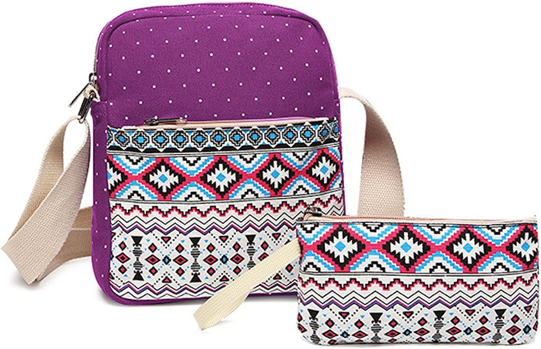 Shoulder Bag Elonglin 3 PCS School Backpack Travel Bag Unisex School Bag Collection Lightweight Canvas Backpack Casual Daypack