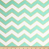 Michael Miller Glitz Metallic Chic Chevron Pearlized Mist Fabric By The Yard