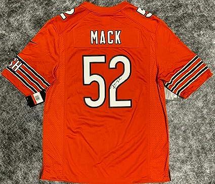 buy popular 29b31 3d428 Signed Khalil Mack Jersey - Nike Orange BAS Beckett ...
