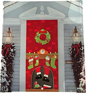 Christmas Door Covers - Santa Christmas Lights Christmas Eve Gingerbread House Snowman Penguin & Amazon.com: Merry Christmas Door Cover: Home \u0026 Kitchen