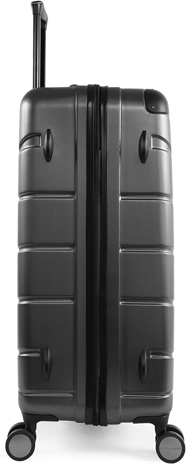 Charcoal Perry Ellis Tanner 29 Hardside Checked Spinner Luggage