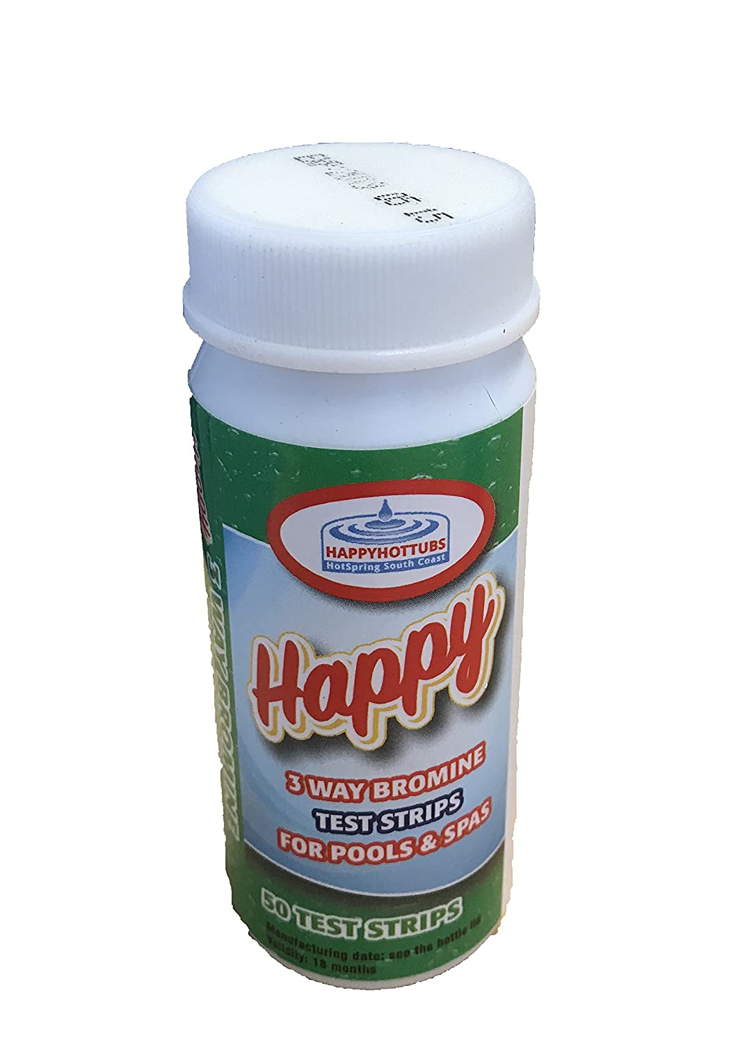 Happy Hot Tubs 3 Way Bromine Test Strips - Perfect for hot tubs and pools … (1 x 50)