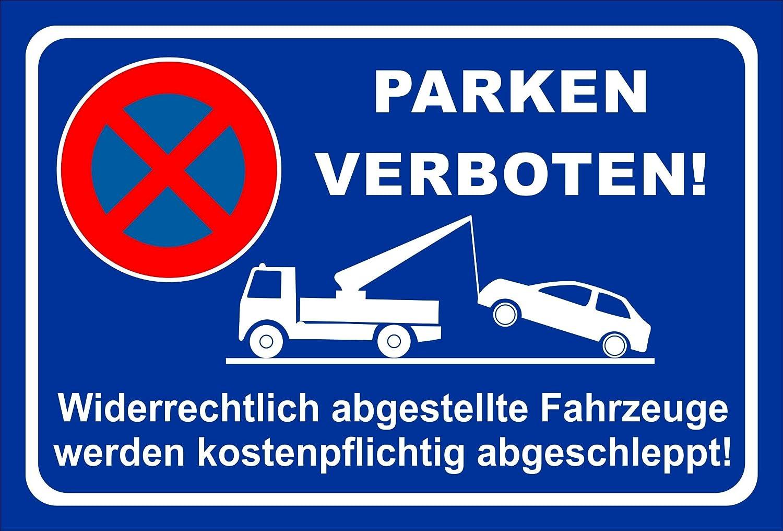 KE-Partyzubehör - Cartel de Prohibido aparcar (20 Variantes ...