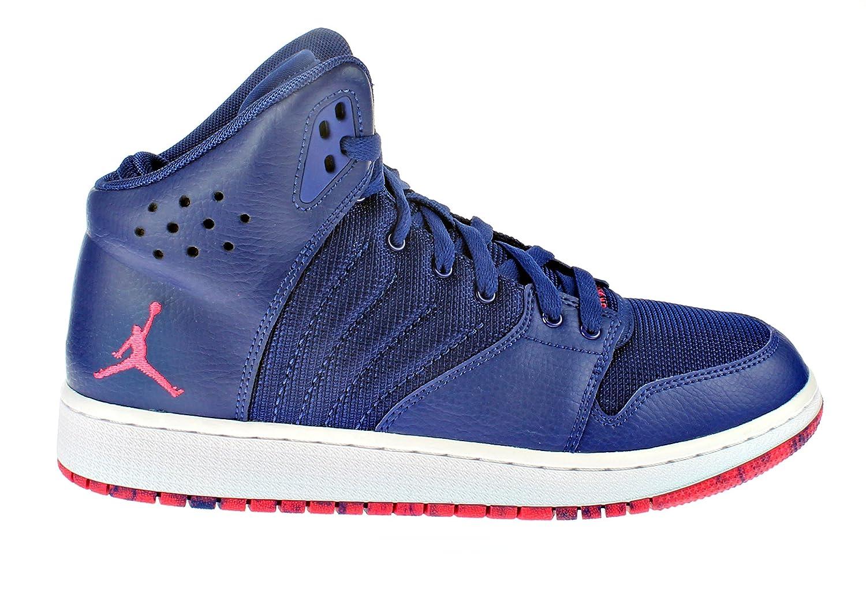ac627360b2 Amazon.com | Jordan Kids 1 Flight 4 Prem BG Basketball Shoes (7Y, Deep  Royal/Infrered-White) | Sneakers