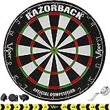 Viper Razorback Official Competition Bristle Steel Tip Dartboard Set with Staple-Free Razor Thin Metal Spider Wire for…