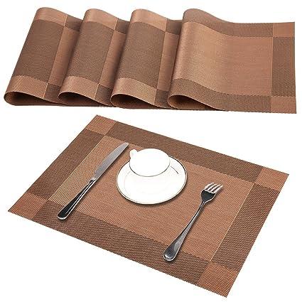 amazon com placemats 4x heat resistant placemats stain resistant