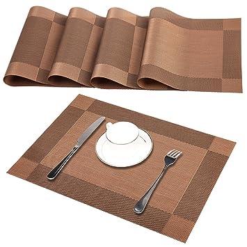 Godten Tischsets 4er Set Rutschfest Abwaschbar Platzsets Pvc