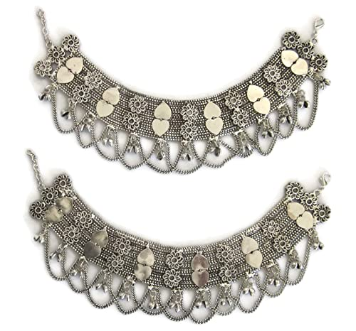 Fashion Jewelry Charitable Silver Bells Anklet Boho Festival Bohemian Gypsy Belly Dancing