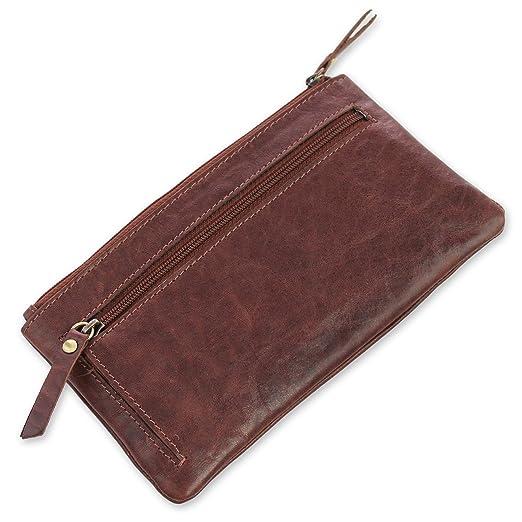 7b253b4579fa2 Safekeepers Leder Damengeldbörse – Portemonnaie mit Handyfach und  Clipverschluss für iPhone 8 – große Damen geldbörse mit Vielen  kartenfächern  24 Kredit- ...