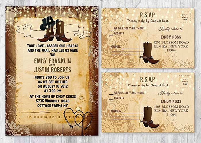 Amazon Com Set Of 130 Western Rustic Country Themed Wedding