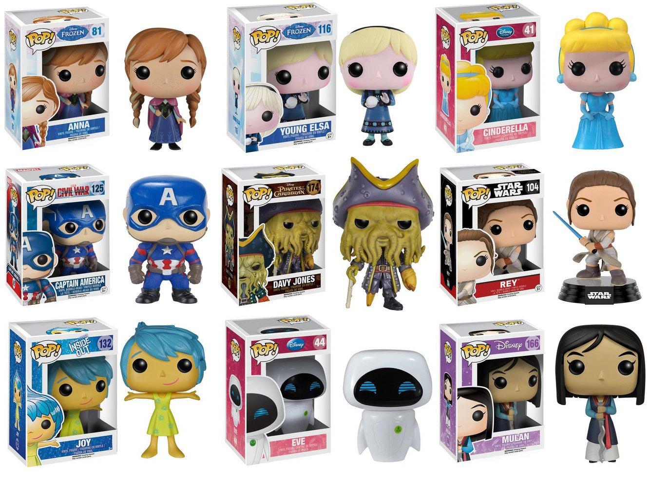 POP ¡Disney Misterio Pack - 6 Pops al Azar  Amazon.es  Juguetes y juegos 4880ad6116d