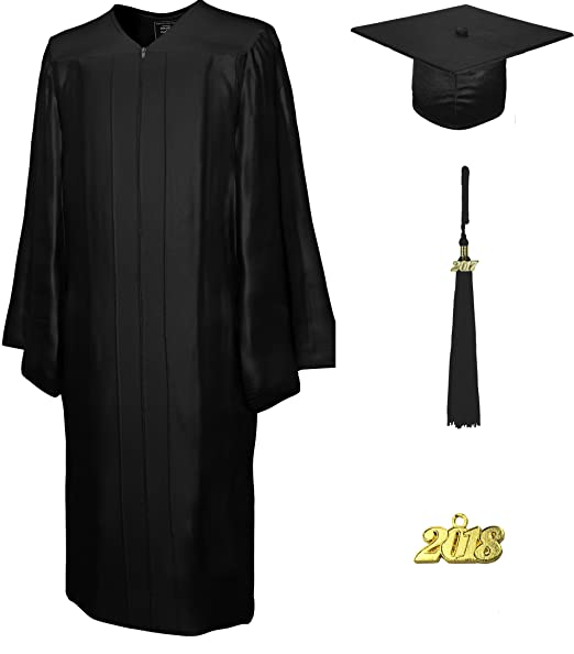 Amazon.com: Graduation Cap and Gown & Tassel 2017 (2018 optional ...