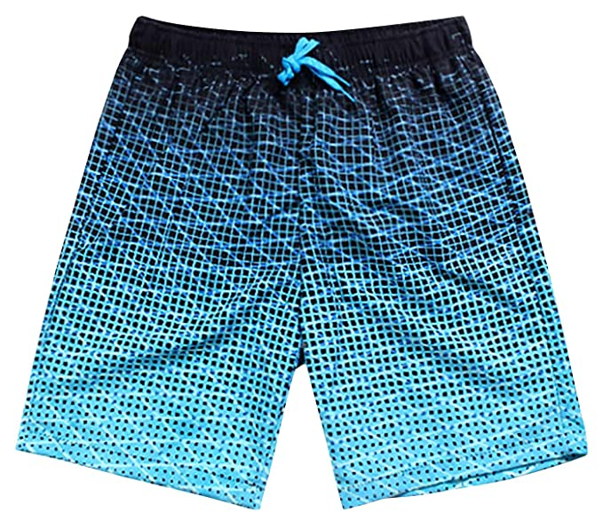 958b6b556a Amazon.com: Males Swimming Trunks Swim Water Plaid Print Beach Shorts Quick  Dry Boardshorts Bathing Suit Pants with Mesh Lining and Pockets XL: Clothing