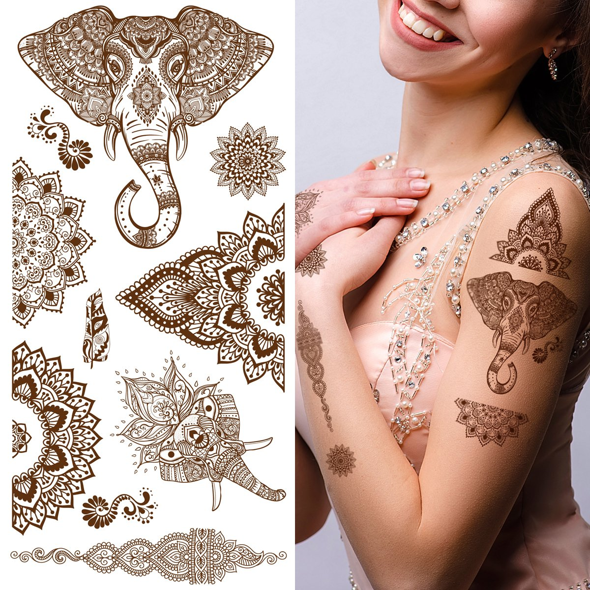Amazon Supperb Temporary Tattoos Mandala Henna Healing Yoga