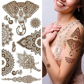 Amazon Com Supperb Temporary Tattoos Mandala Henna Healing Yoga