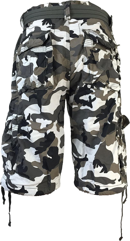 Focus Men's Army Camo Cargo Shorts Sizes: 30-44