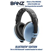 Baby Banz Bluetooth Earmuffs Hearing Protection - Ages 0-2 Years - The Best Headphones for Babies & Toddlers - Block Noise & Play Soothing Sounds, Music, Audio Books, Movies