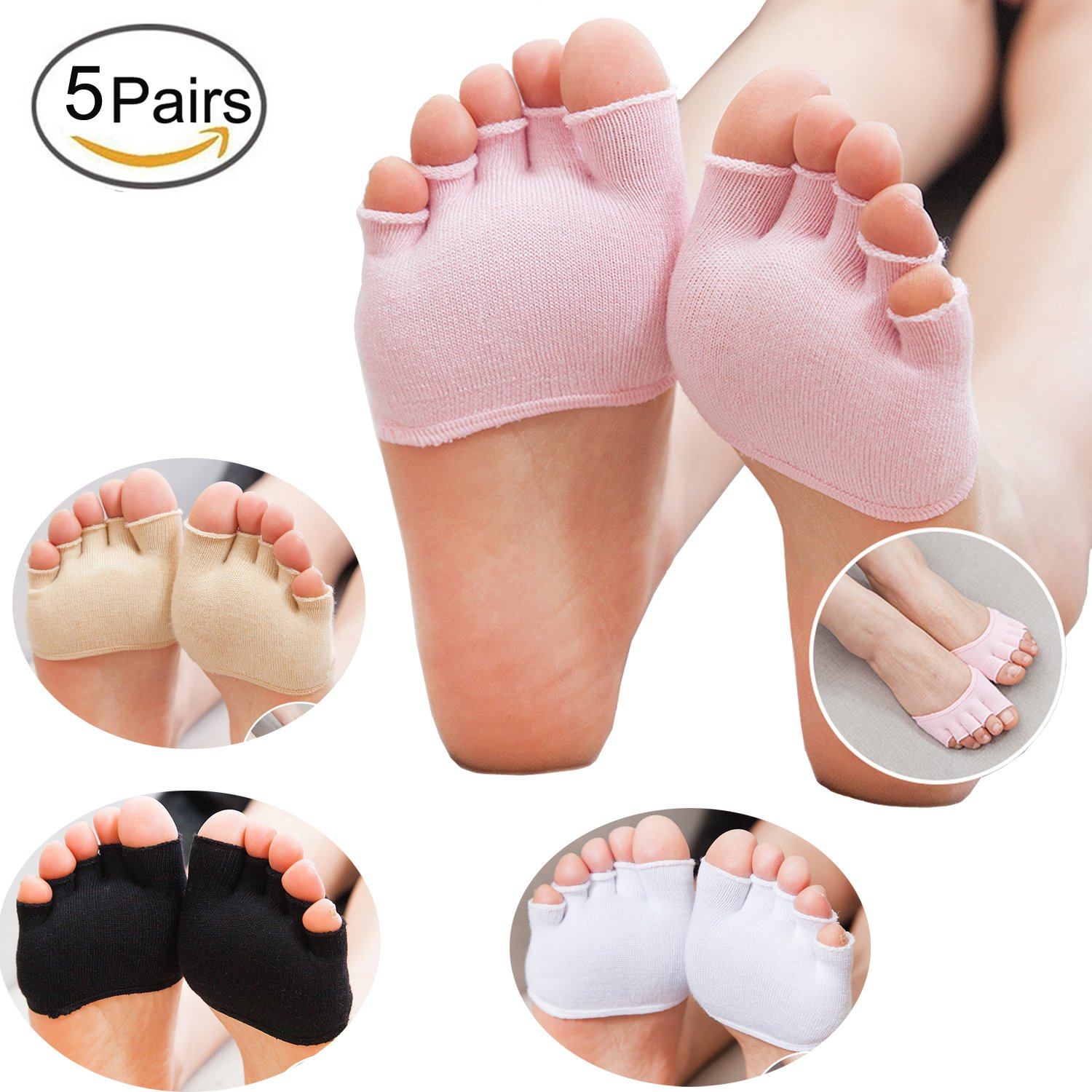 23a620f4c4 Five Toe Separate Design:Allows each toe to move freely, relieves  compression between the toes, and promotes blood circulation