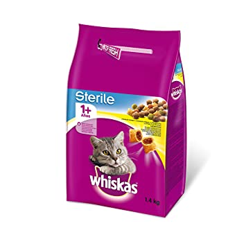 Pienso para gatos adultos esterilizados con sabor pollo de 1,4kg | [Pack de 6]: Amazon.es: Productos para mascotas