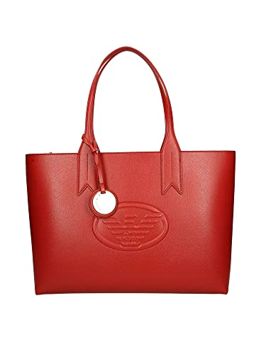 bbca7e1f227 Emporio Armani Frida Eagle Logo Shopper One Size RED  Amazon.fr ...