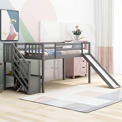47+ Bunk Bed With Stairs And Slide Pics