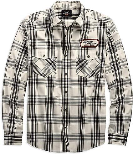 HARLEY-DAVIDSON - Camisa casual - para hombre Plaid M: Amazon.es: Ropa y accesorios