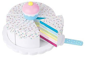 Elegant JaBaDaBaDo U0026quot; Regenbogen Torteu0026quot; Kuchen Holz Spielküchenzubehör  Spielkuchen Spieltorte Holzspielzeug Kinderspielkuchen