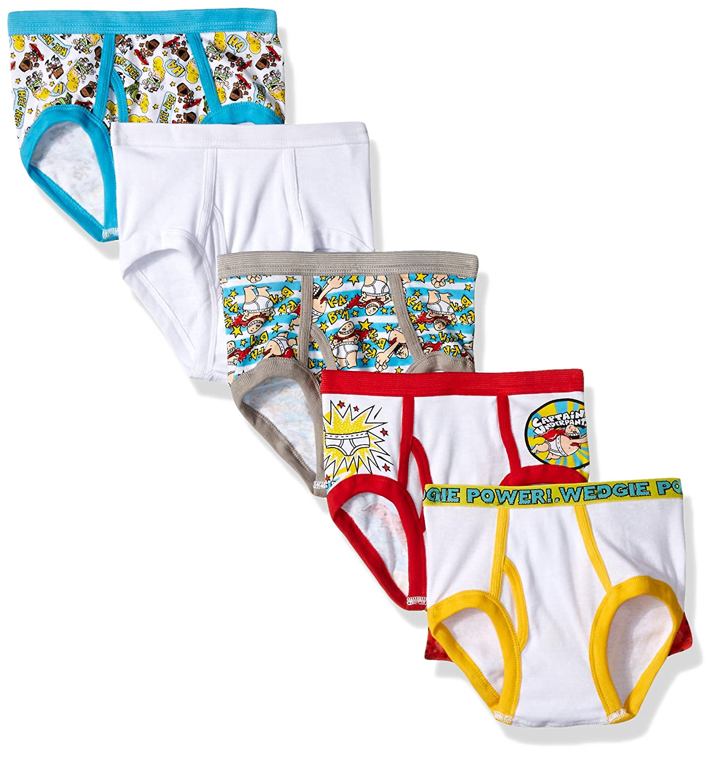 Dreamworks Captain Underpants 5 Pack Boys Brief BUP4817